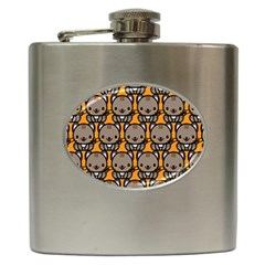 Sitcat Orange Brown Hip Flask (6 oz)