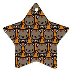 Sitcat Orange Brown Star Ornament (Two Sides)