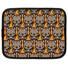 Sitcat Orange Brown Netbook Case (Large)