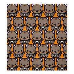 Sitcat Orange Brown Shower Curtain 66  x 72  (Large)