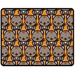 Sitcat Orange Brown Fleece Blanket (Medium)