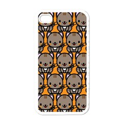 Sitcat Orange Brown Apple iPhone 4 Case (White)
