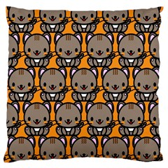 Sitcat Orange Brown Large Cushion Case (Two Sides)