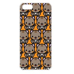 Sitcat Orange Brown Apple iPhone 5 Seamless Case (White)