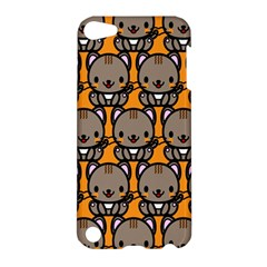 Sitcat Orange Brown Apple iPod Touch 5 Hardshell Case