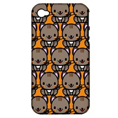Sitcat Orange Brown Apple iPhone 4/4S Hardshell Case (PC+Silicone)