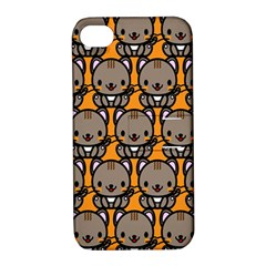 Sitcat Orange Brown Apple iPhone 4/4S Hardshell Case with Stand