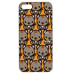 Sitcat Orange Brown Apple iPhone 5 Hardshell Case with Stand