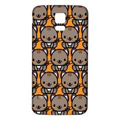 Sitcat Orange Brown Samsung Galaxy S5 Back Case (White)