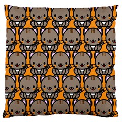 Sitcat Orange Brown Large Flano Cushion Case (Two Sides)