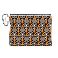 Sitcat Orange Brown Canvas Cosmetic Bag (L)