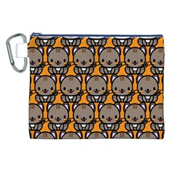 Sitcat Orange Brown Canvas Cosmetic Bag (XXL)