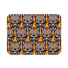 Sitcat Orange Brown Double Sided Flano Blanket (Mini)