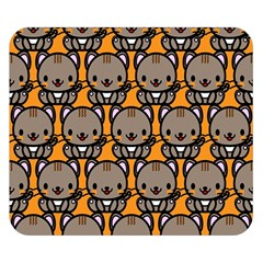 Sitcat Orange Brown Double Sided Flano Blanket (Small)