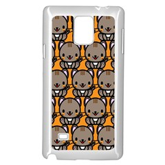 Sitcat Orange Brown Samsung Galaxy Note 4 Case (White)