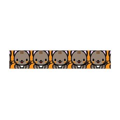 Sitcat Orange Brown Flano Scarf (Mini)