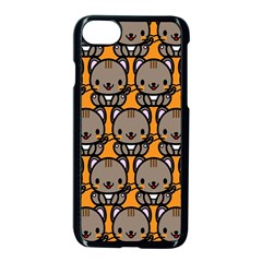 Sitcat Orange Brown Apple Iphone 7 Seamless Case (black)