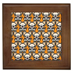 Sitchihuahua Cute Face Dog Chihuahua Framed Tiles