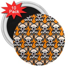 Sitchihuahua Cute Face Dog Chihuahua 3  Magnets (10 pack)