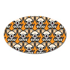 Sitchihuahua Cute Face Dog Chihuahua Oval Magnet