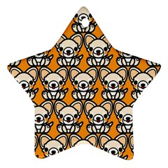 Sitchihuahua Cute Face Dog Chihuahua Star Ornament (two Sides)