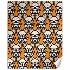 Sitchihuahua Cute Face Dog Chihuahua Canvas 11  x 14