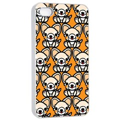 Sitchihuahua Cute Face Dog Chihuahua Apple iPhone 4/4s Seamless Case (White)