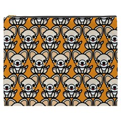 Sitchihuahua Cute Face Dog Chihuahua Cosmetic Bag (XXXL)