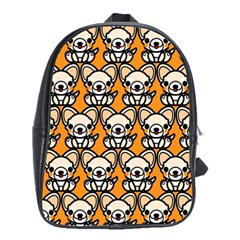 Sitchihuahua Cute Face Dog Chihuahua School Bags (XL)