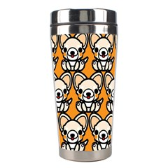 Sitchihuahua Cute Face Dog Chihuahua Stainless Steel Travel Tumblers