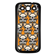 Sitchihuahua Cute Face Dog Chihuahua Samsung Galaxy S3 Back Case (Black)