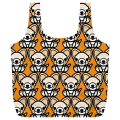Sitchihuahua Cute Face Dog Chihuahua Full Print Recycle Bags (L)