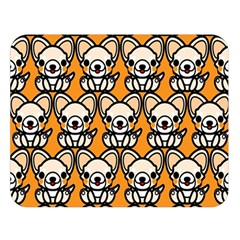 Sitchihuahua Cute Face Dog Chihuahua Double Sided Flano Blanket (Large)