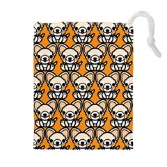 Sitchihuahua Cute Face Dog Chihuahua Drawstring Pouches (Extra Large)