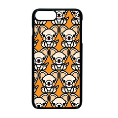 Sitchihuahua Cute Face Dog Chihuahua Apple Iphone 7 Plus Seamless Case (black)