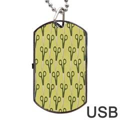 Scissor Dog Tag USB Flash (One Side)