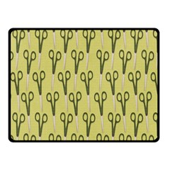 Scissor Double Sided Fleece Blanket (Small)