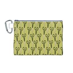 Scissor Canvas Cosmetic Bag (M)