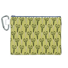 Scissor Canvas Cosmetic Bag (XL)