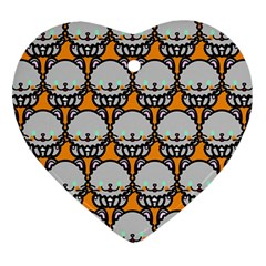 Sitpersian Cat Orange Ornament (Heart)