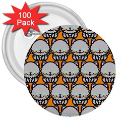 Sitpersian Cat Orange 3  Buttons (100 pack)