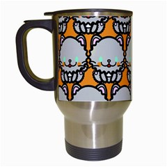 Sitpersian Cat Orange Travel Mugs (White)