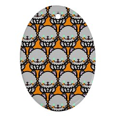 Sitpersian Cat Orange Oval Ornament (Two Sides)