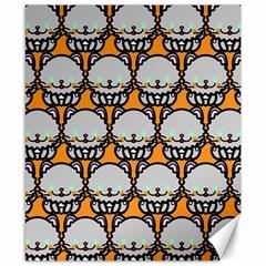 Sitpersian Cat Orange Canvas 8  x 10