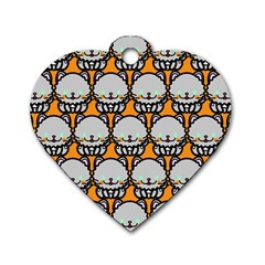 Sitpersian Cat Orange Dog Tag Heart (Two Sides)