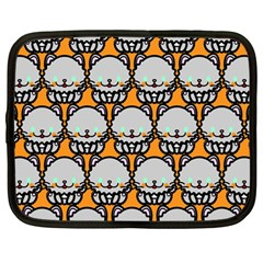 Sitpersian Cat Orange Netbook Case (Large)