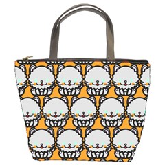 Sitpersian Cat Orange Bucket Bags