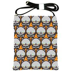 Sitpersian Cat Orange Shoulder Sling Bags