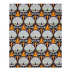 Sitpersian Cat Orange Shower Curtain 60  x 72  (Medium)