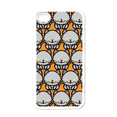 Sitpersian Cat Orange Apple iPhone 4 Case (White)